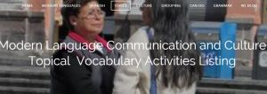 Modern Language Communication and Culture Activities